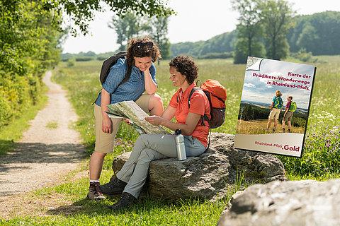 Minifaltkarte der Prädikatswanderwege in Rheinland-Pfalz