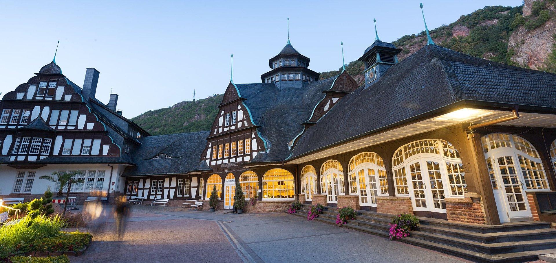 In het Kurmittelhaus in Münster bij Stein-Ebernburg bevinden zich aangename geneeskrachtige bronnen, Nahe-regio