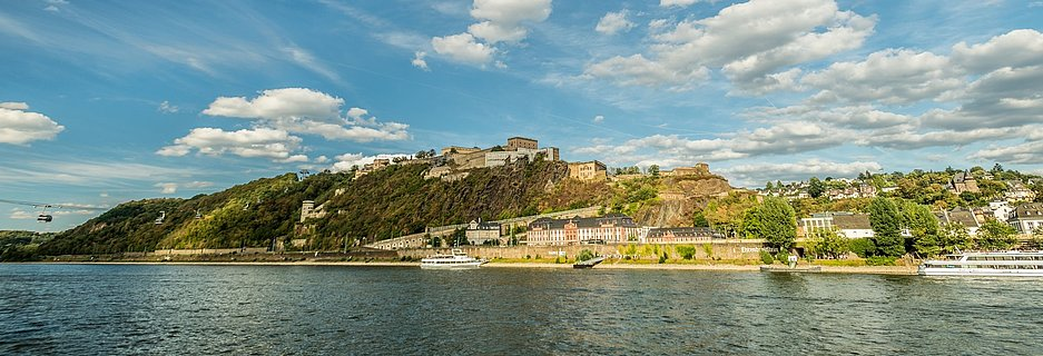 Ehrenbreitstein Fortess at Koblenz, Romantic Rhine