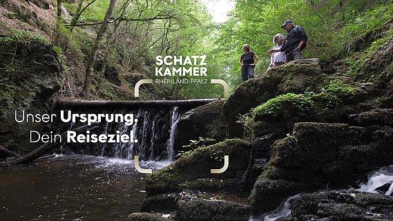 Wasserfall der Baybachklamm, Hunsrück