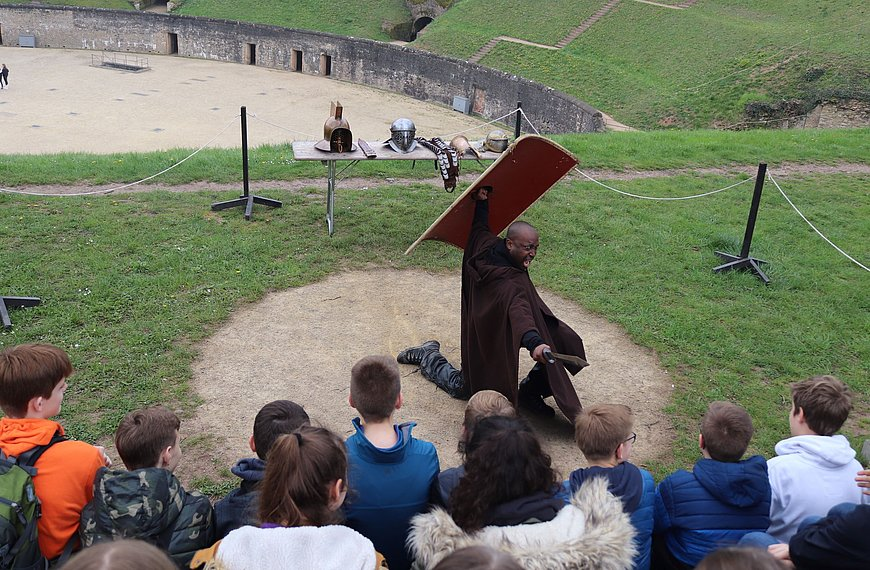 Gladiatorenworkshop in Trier, Mosel