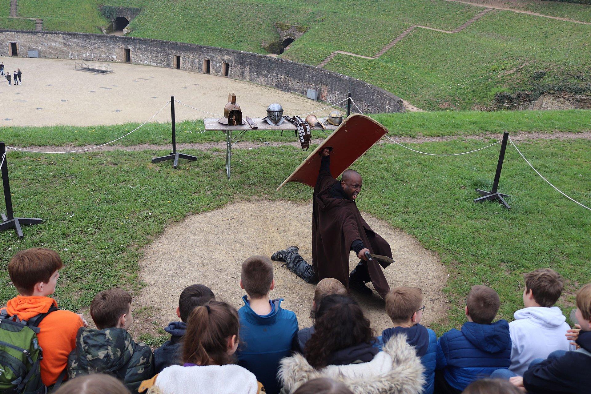 Gladiatorenworkshop in Trier, Mosel