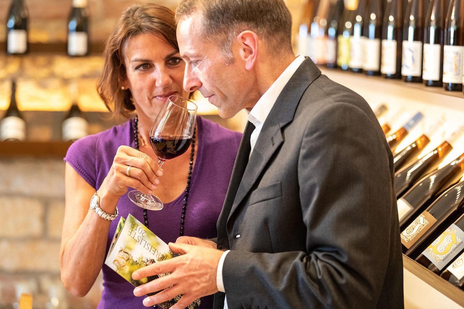 Weinprobe im Weingut von Winning, Pfalz