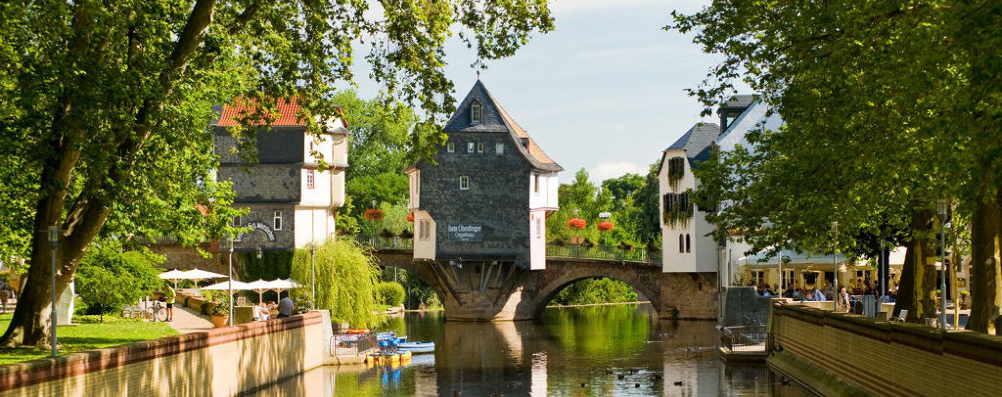 Ein wichtiges Wahrzeichen Bad Kreuznachs sind die Brückenhäuser, Nahe