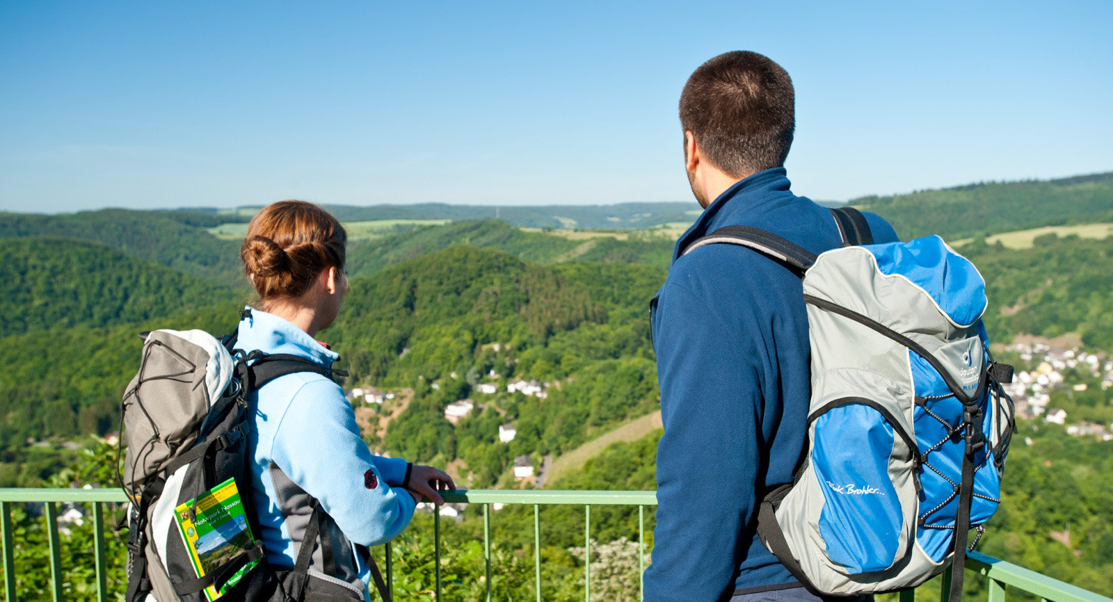 "Viewpoint ""Goethepunkt"" at Lahn trail near Obernhof, Lahn valley"