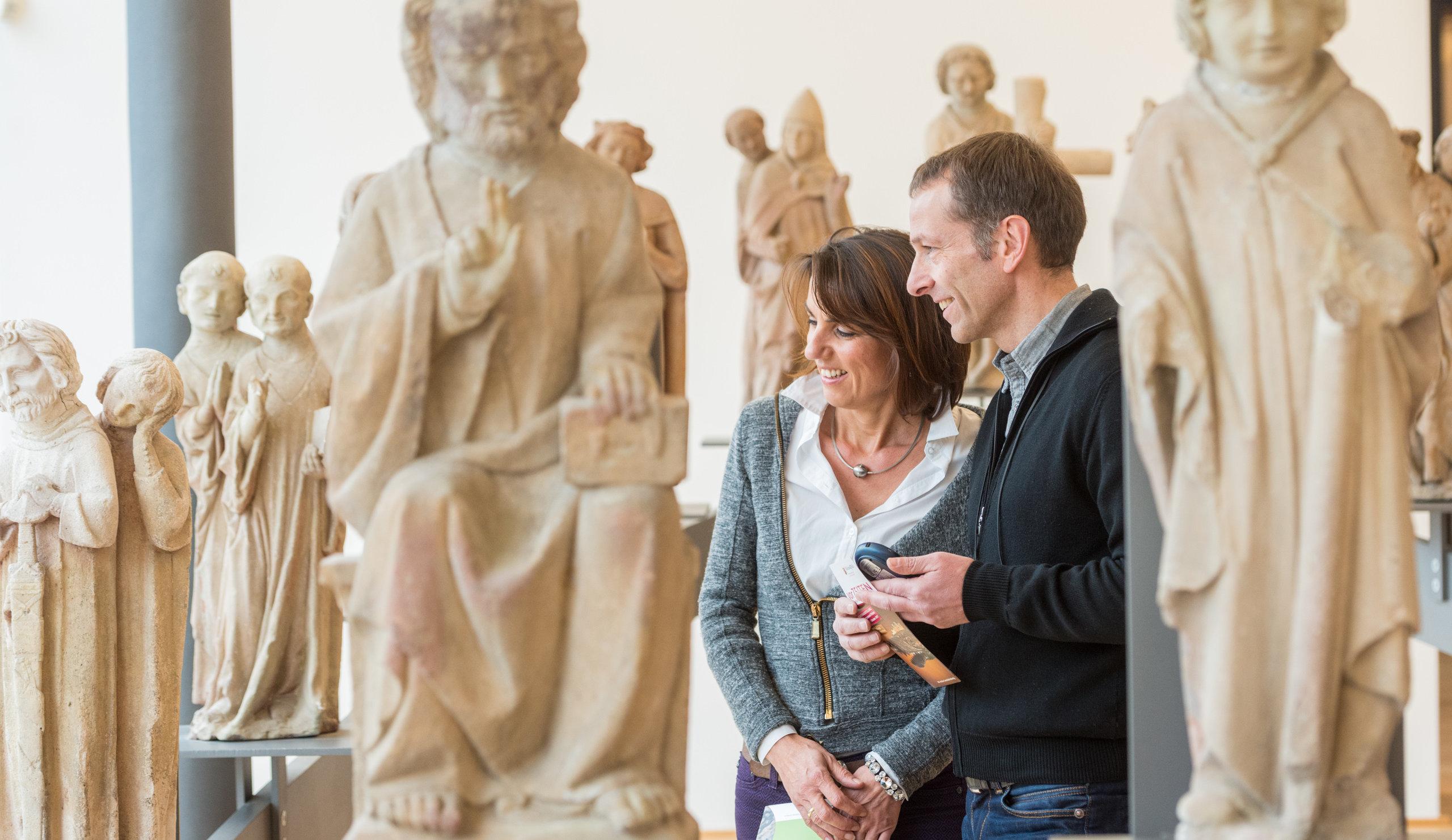 Bezoek in een museum in Mainz, Rijn-Hessen