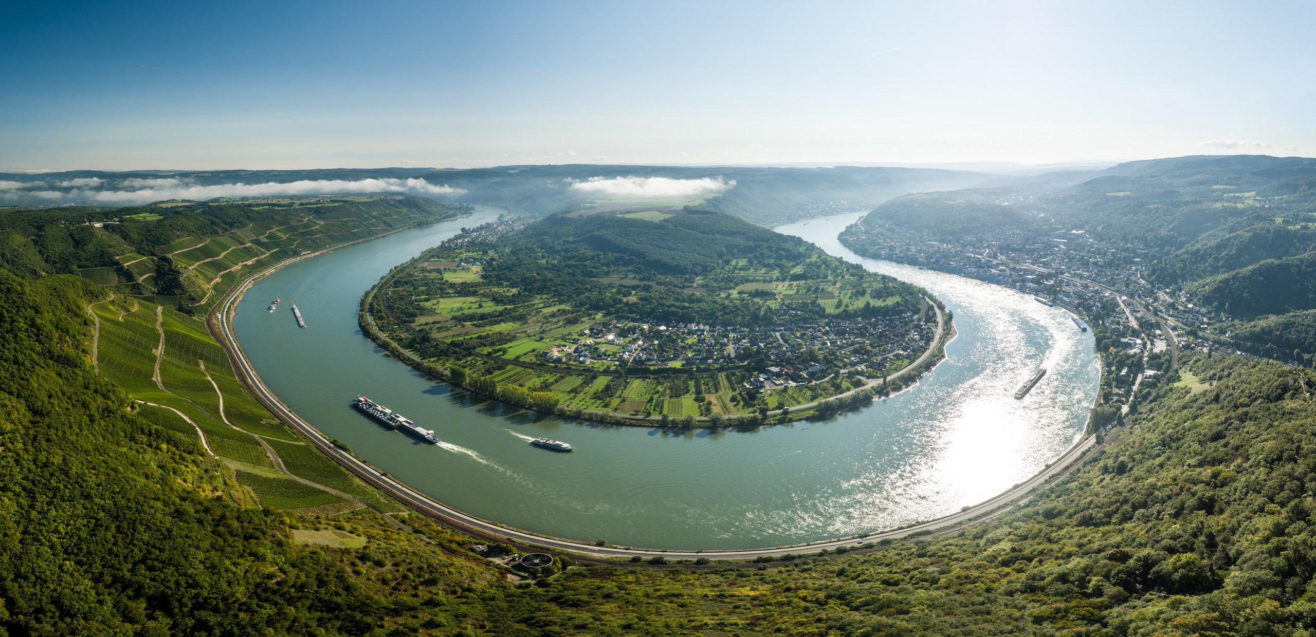 Uitzicht op de Rijnbocht bij Boppard, Romantische Rijn