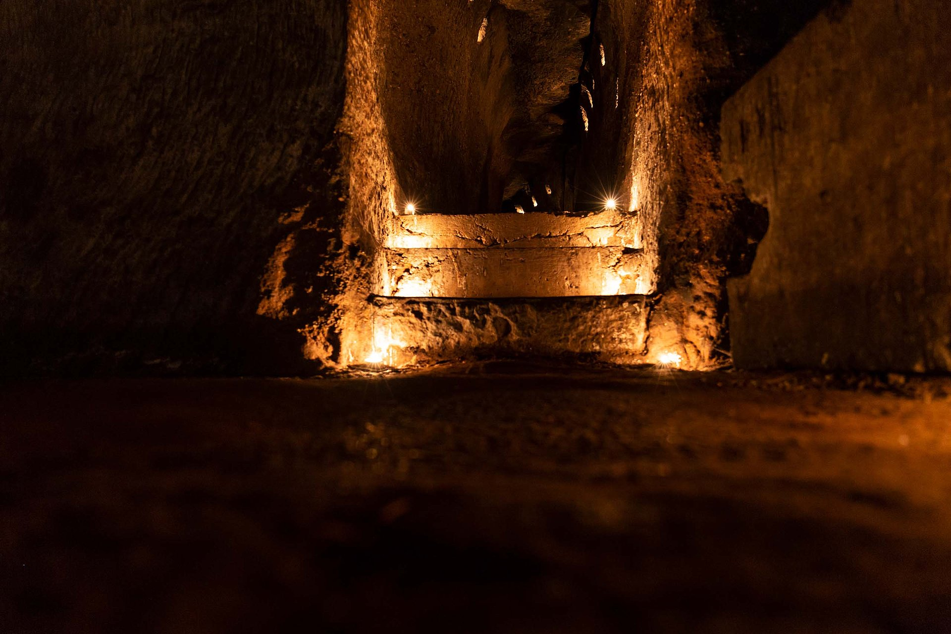 Unterirdische Gänge in der Burg Berwartstein in Erlenbach bei Dahn, Pfalz