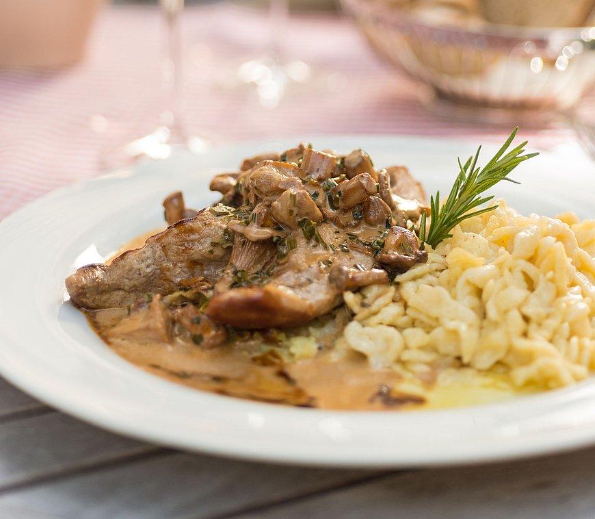 "Regional dish with ""Spätzle"""