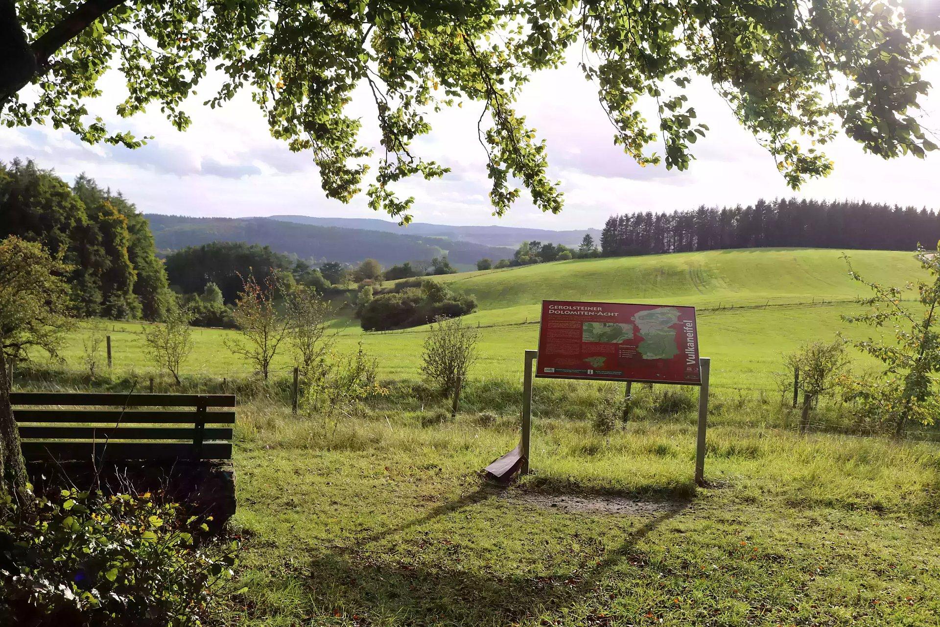 Tafel Muße-Pfad Gerolsteiner Dolomiten-Acht, Eifel