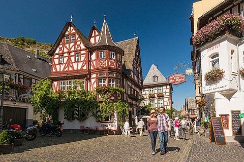 Fachwerkkulisse in Bacharach, Romantischer Rhein