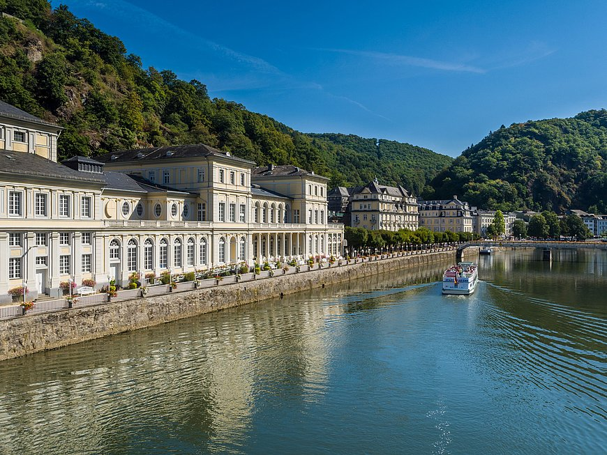 Lahn river at Bad Ems, Lahn valley