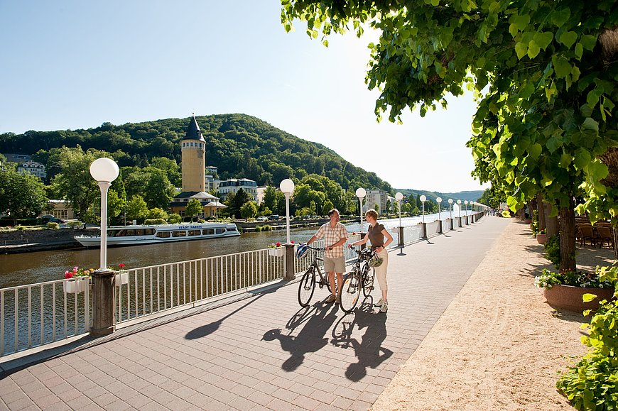 Cycling in Bad Ems, Lahn valley