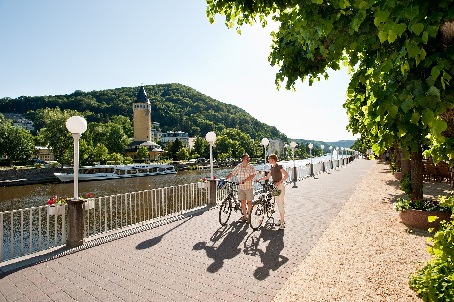 Discovering the city of Bad Ems by bike, Lahn valley