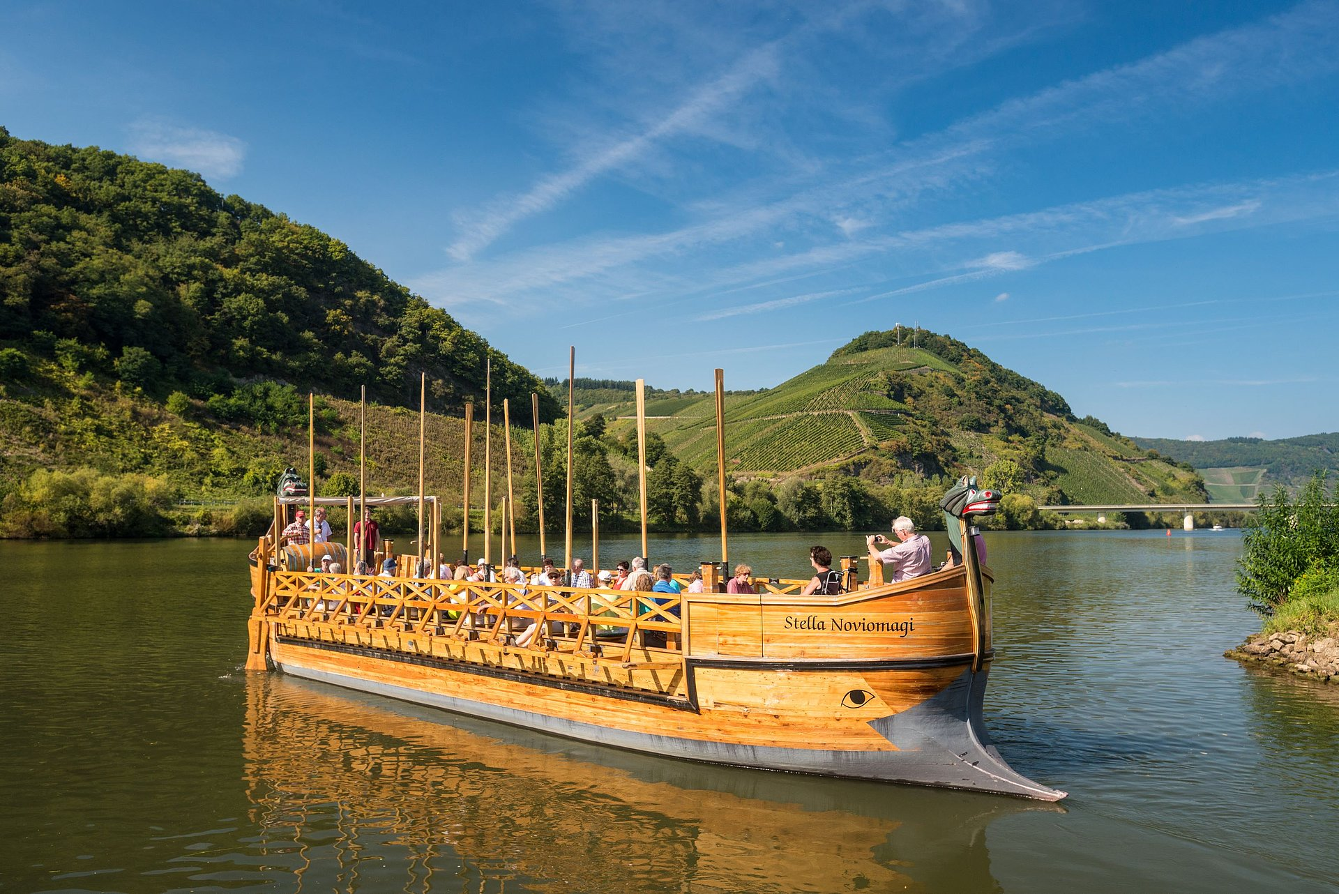 Römerschiff Nachbau in Neumagen-Dhron, Mosel