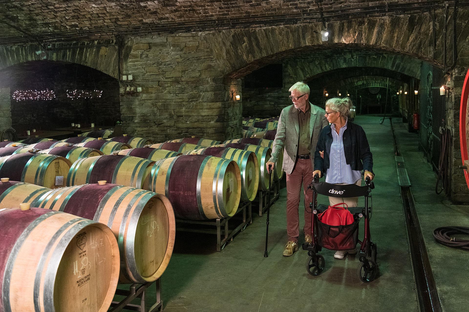 Besuch im Weinkeller der Winzergenossenschaft Mayschoß, Ahrtal
