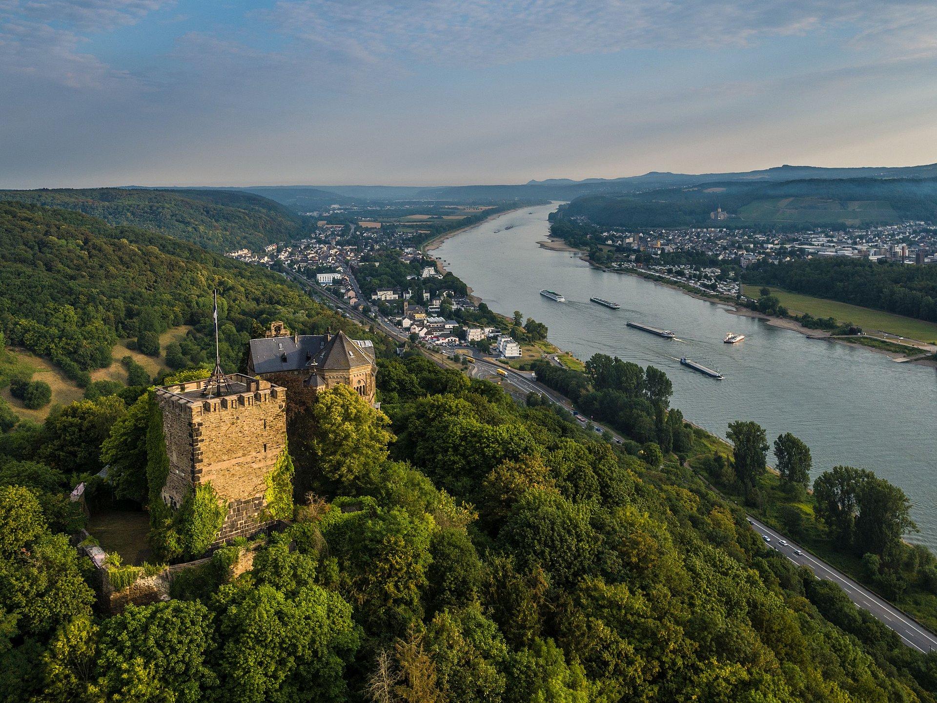 Burg Rheineck bei Bad Breisig, Romantischer Rhein