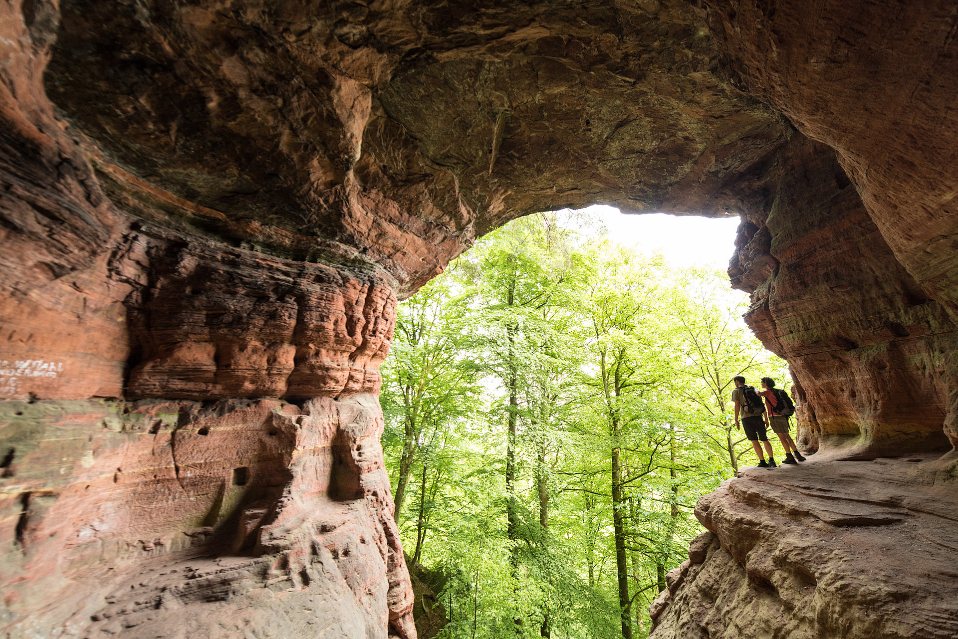 The Genoveva Cave in the Kylltal on the Eifelsteig, Eifel