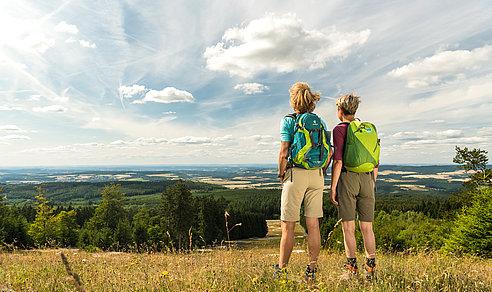 Ausblick vom Erbeskopf, Hunsrück