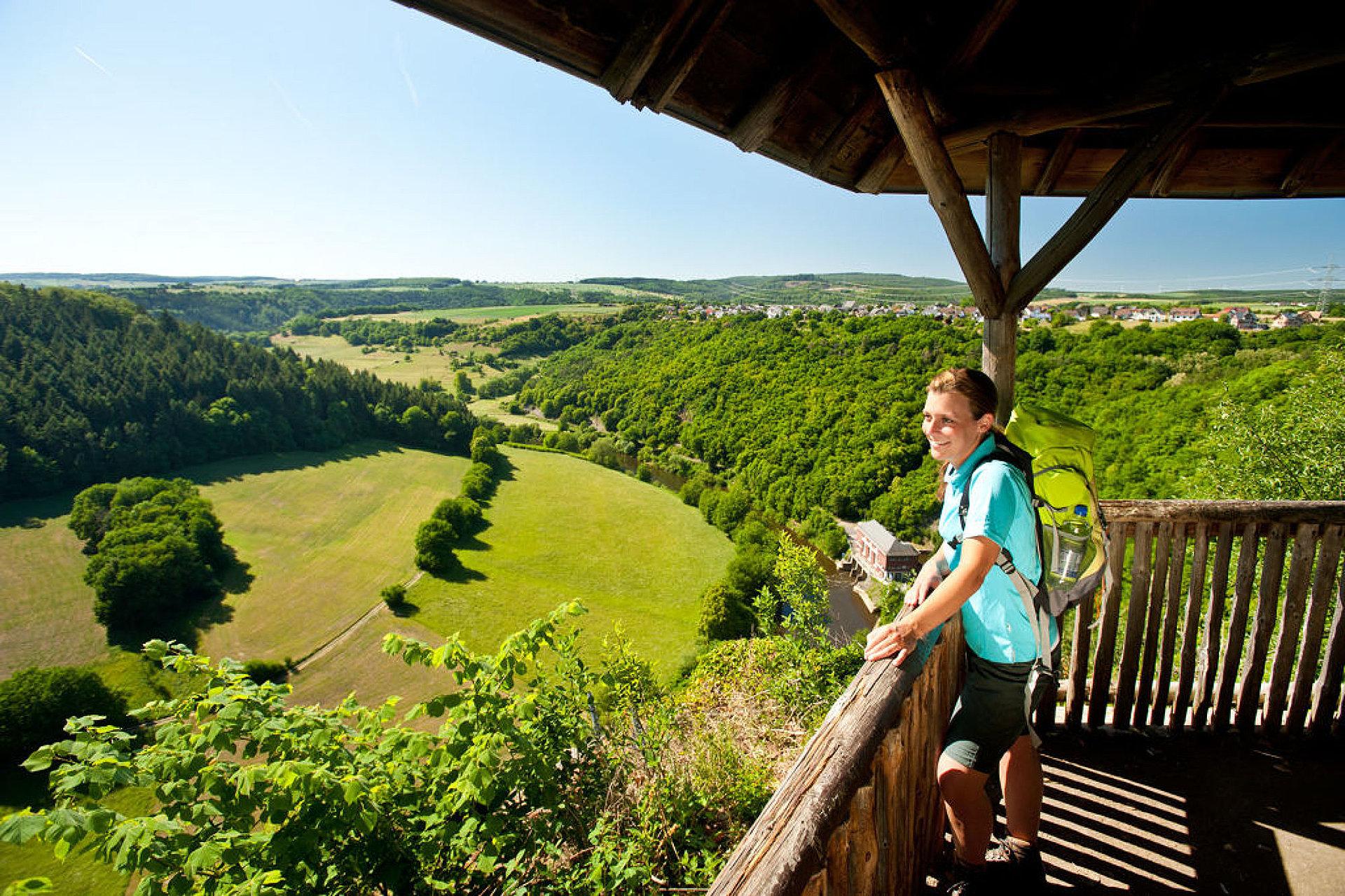 """View point """"Gabelstein"""", Lahn valley"""