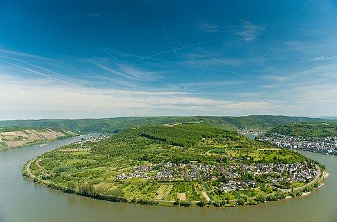 Blick ins Rheintal bei Boppard, Romantischer Rhein