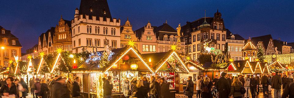 Kerstmarkt in Trier, Moezel-regio