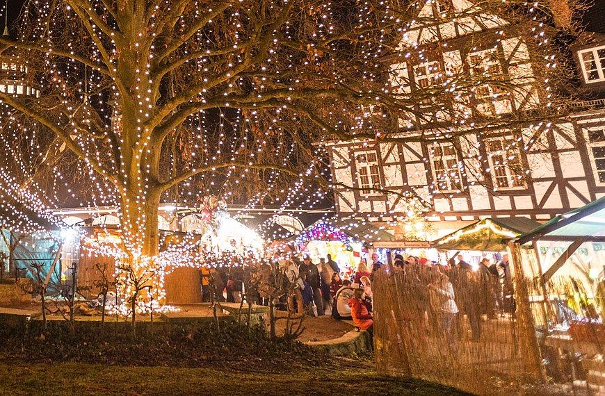 Marché de Noël romantique à Bad Münster am Stein-Ebernburg, vallée de la Nahe