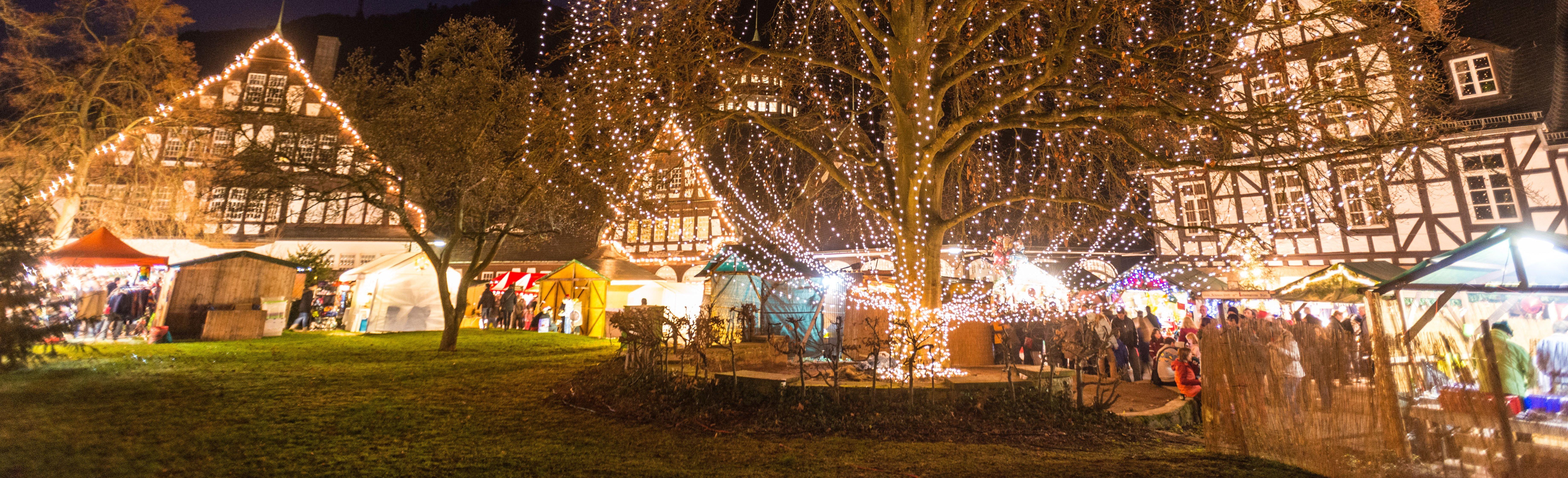 Weihnachtsmarkt in Bad Münster am Stein-Ebernburg, Nahe