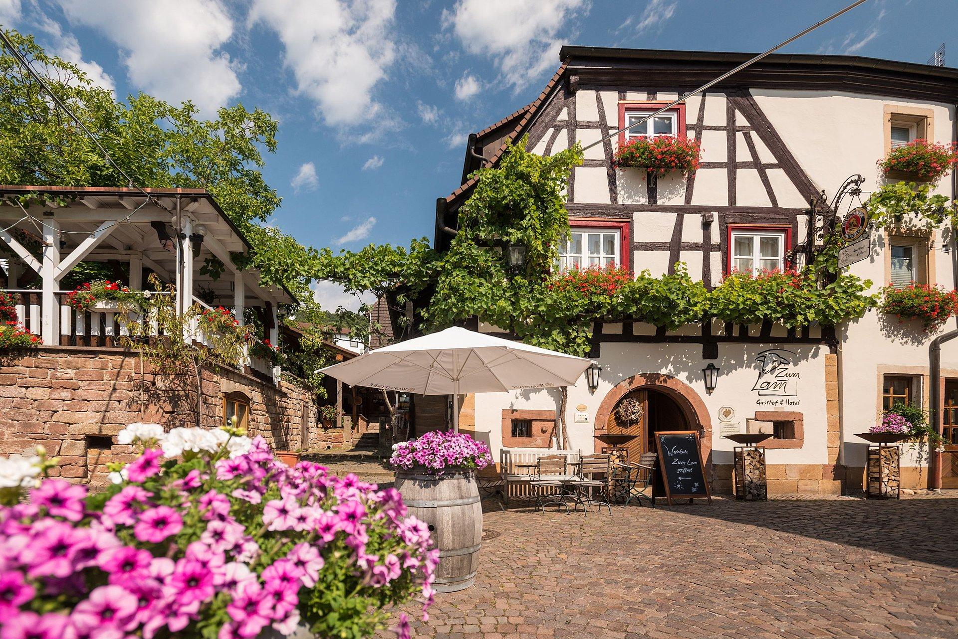Idyllischer Gasthof an der Deutschen Weinstraße, Pfalz