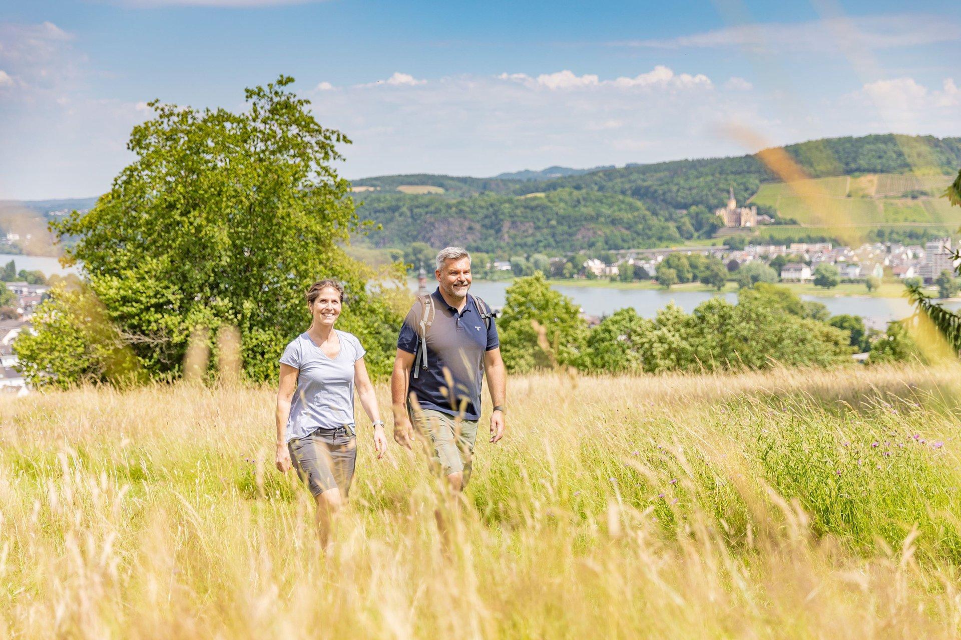 Gezellige wandeling bij Bad Breisig, Romantische Rijn