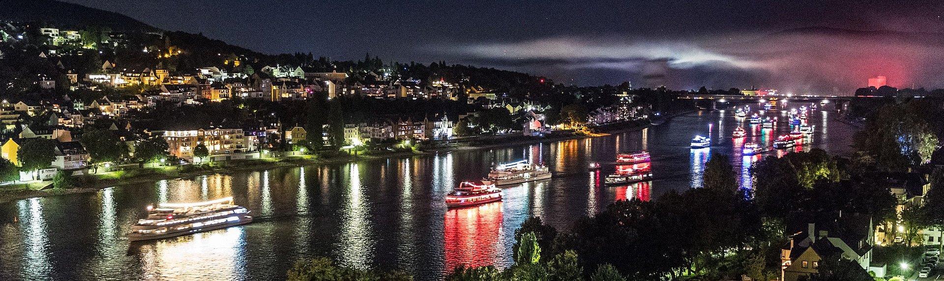 Schiffskorso zu Rhein in Flammen, Romantischer Rhein