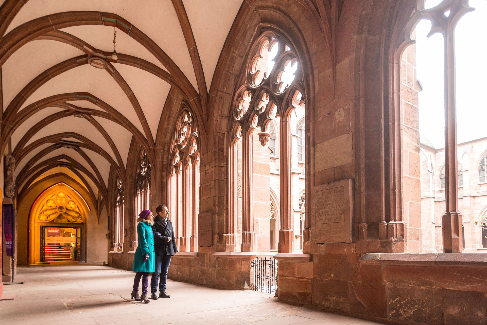 The cloister of the St Martin´s Cathedral, Rhine-Hesse