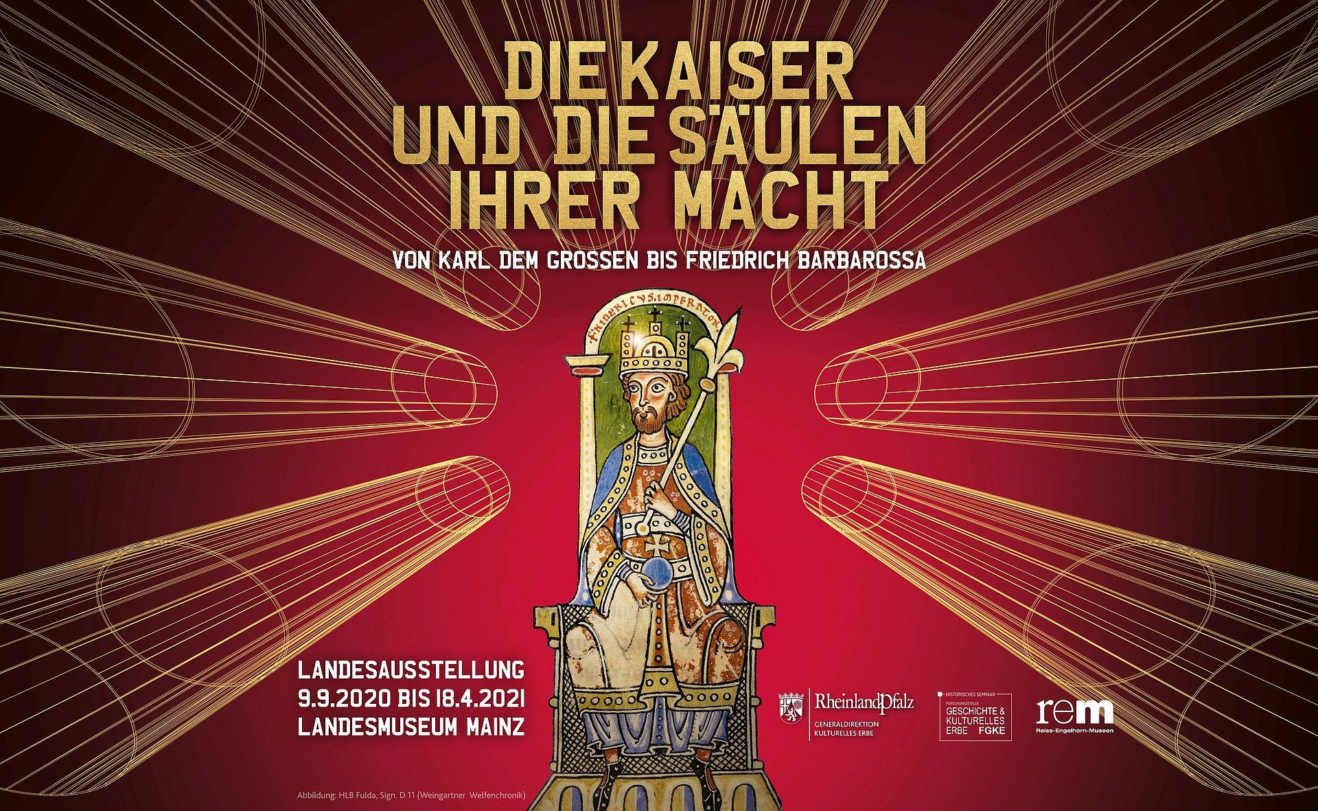 """Landesausstellung """"Die Kaiser und die Säulen ihrer Macht"""" in Mainz, Rheinhessen"""
