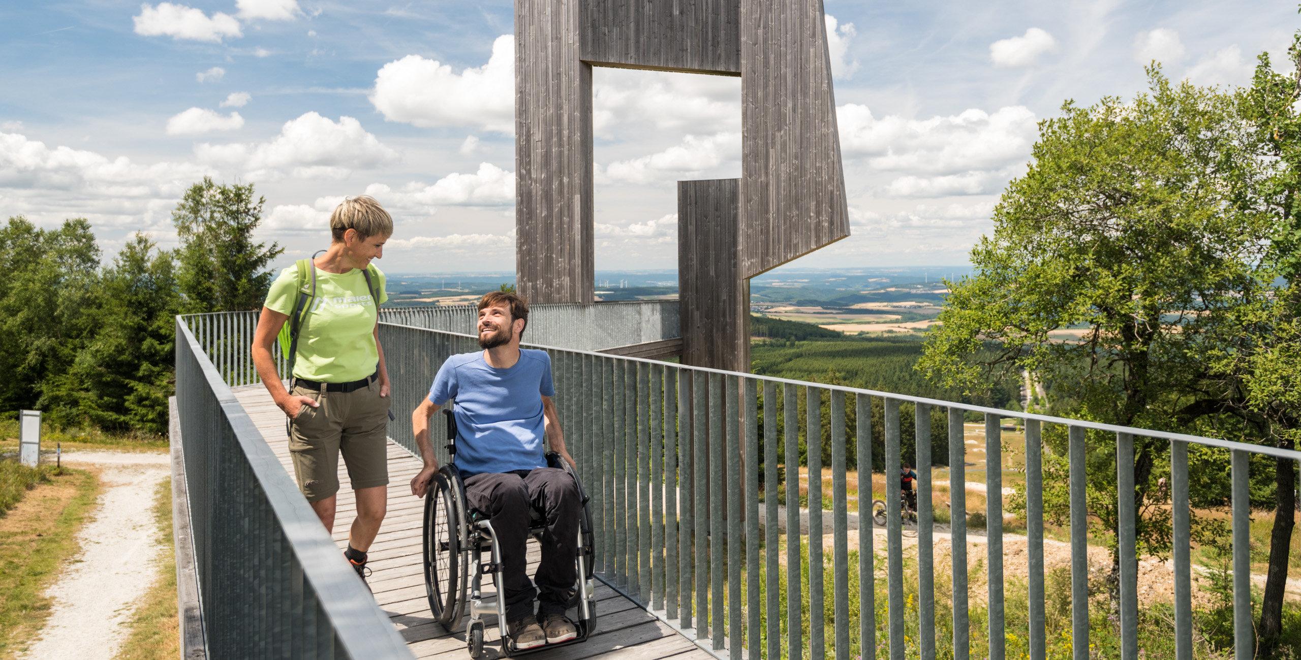 Uitzichtplatform Windklang op de Erbeskopf, Hunsrück