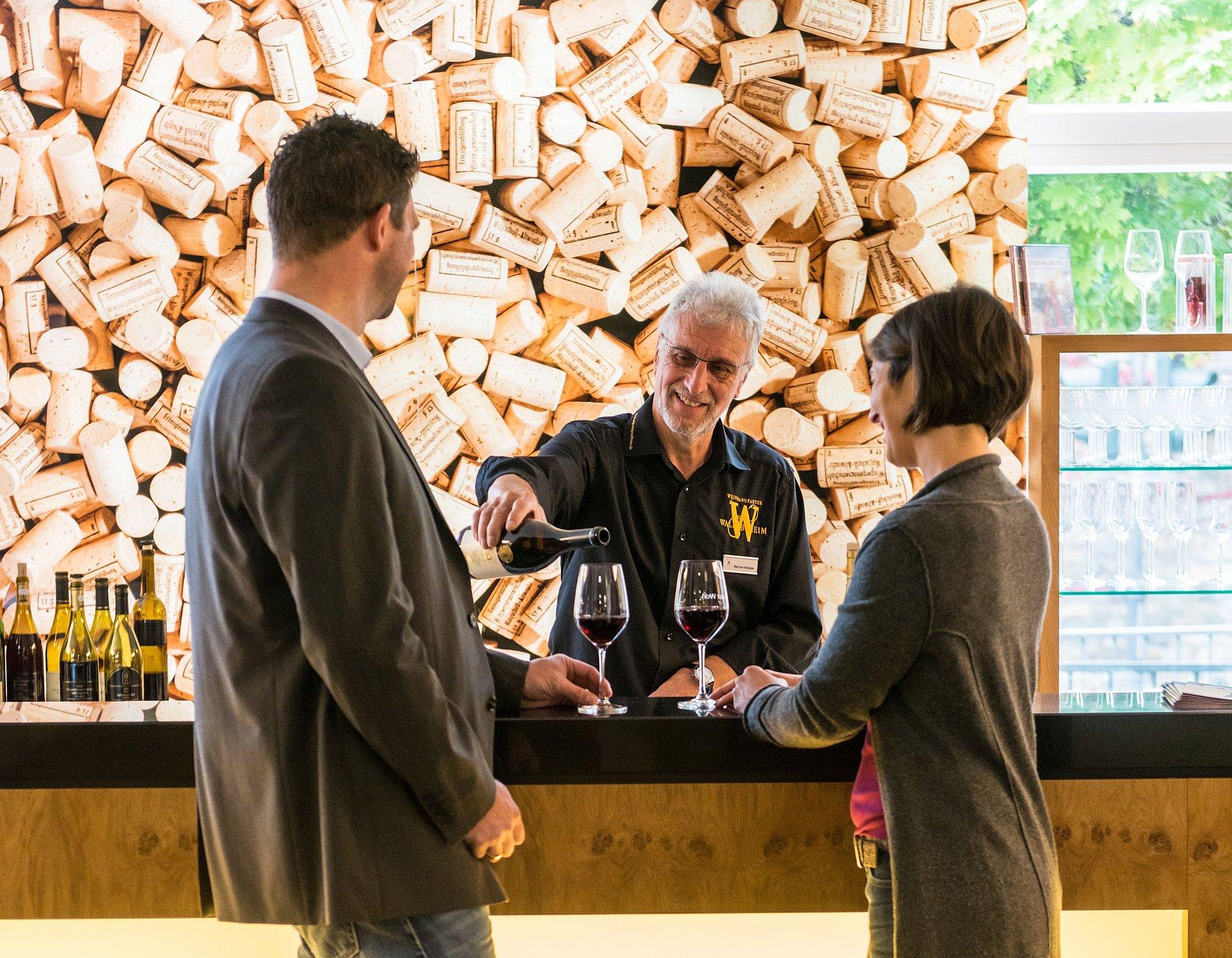 Wijnproeverij in Walporzheim, Ahrdal