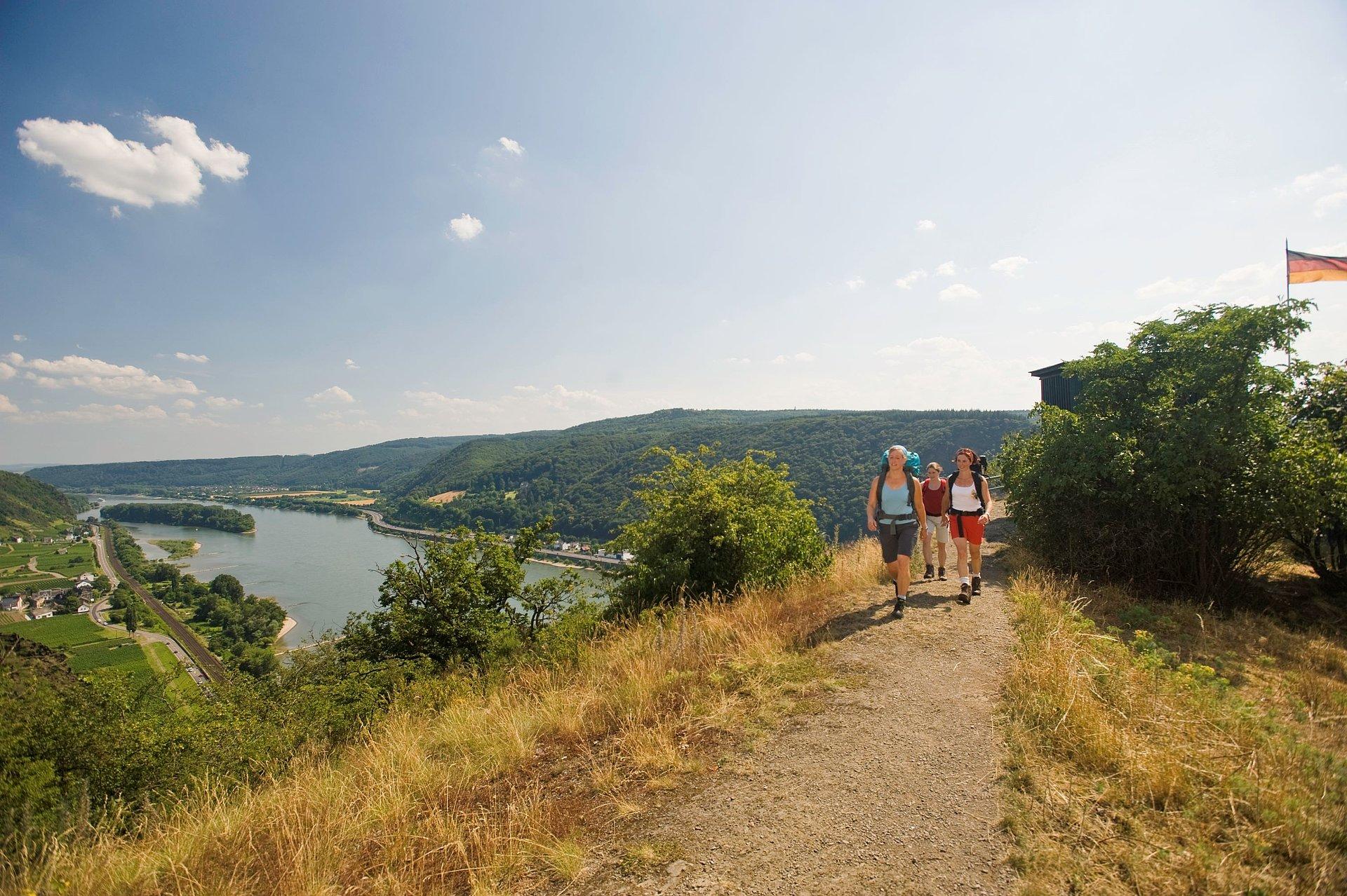 Wandeltocht naar de Rheinbrohler Ley bij Bad Hönningen, Romantische Rijn