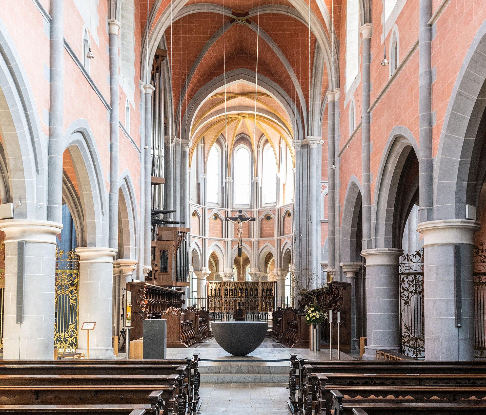 Innenansicht von Kloster Marienstatt im Nistertal bei Streithausen, Westerwald