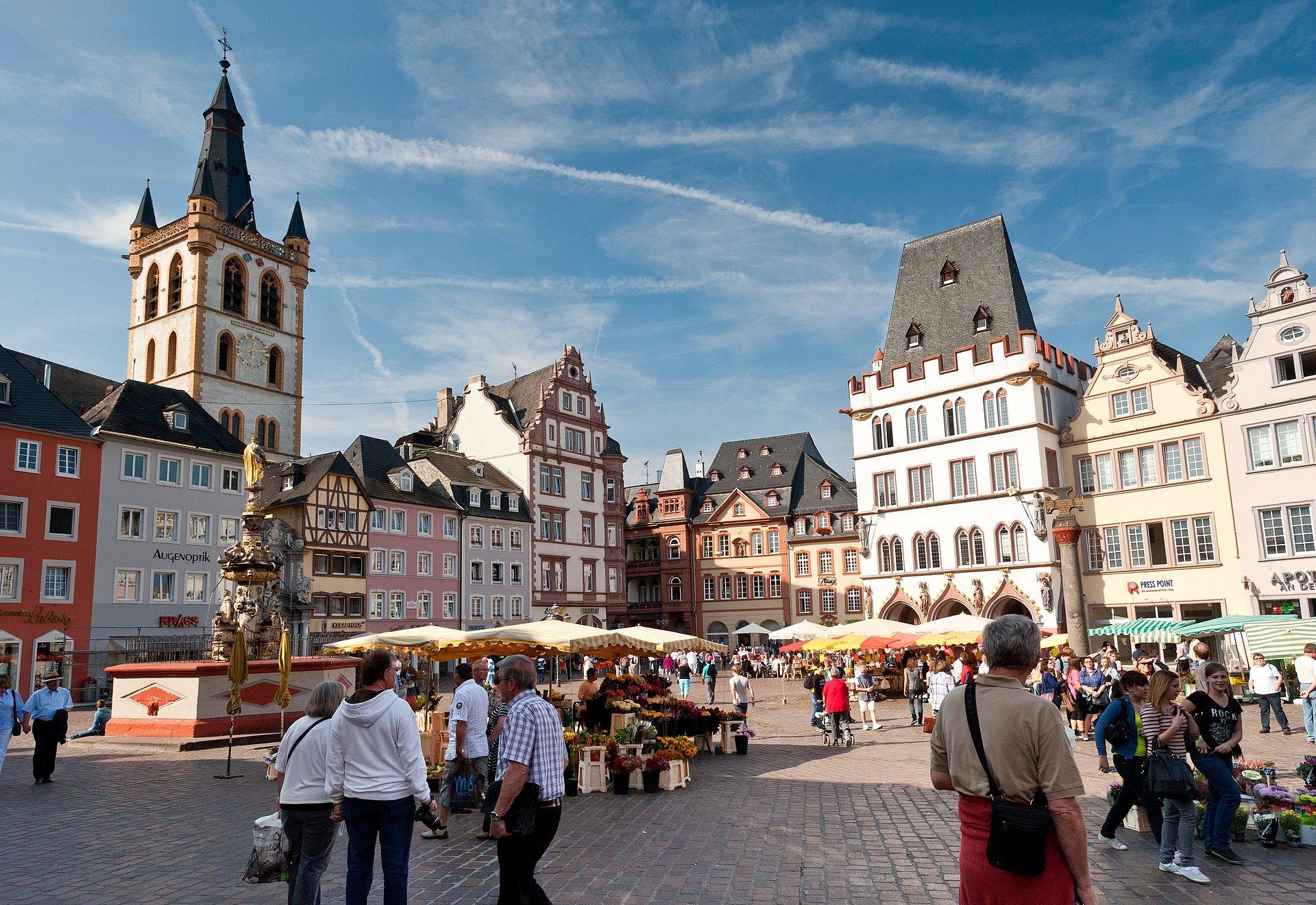 Hauptmarkt in Trier, Mosel