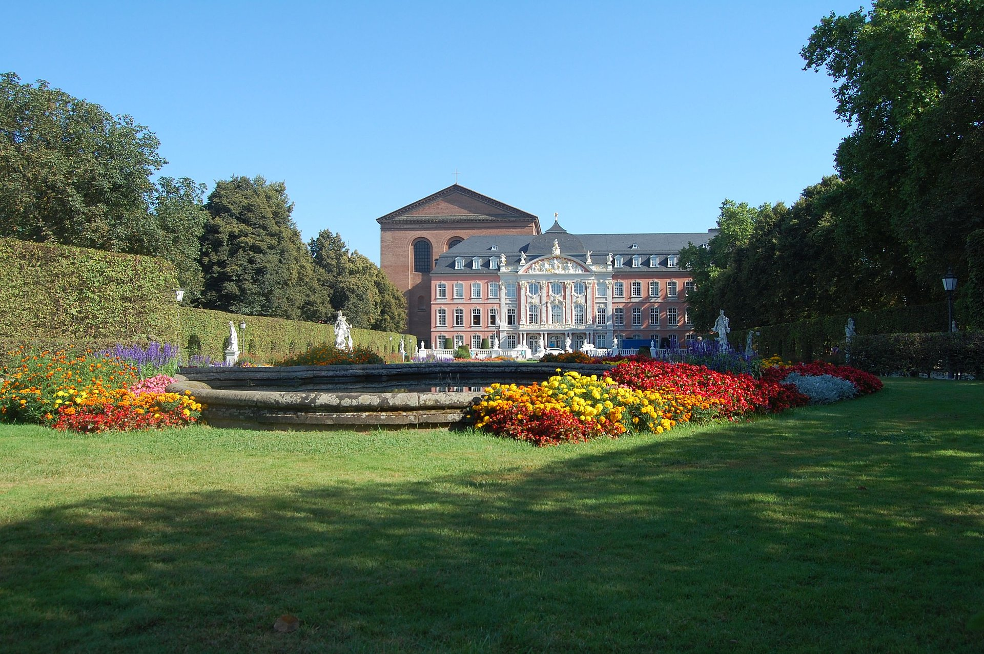 Electoral Palace and Basilica of Constantine in Trier, Moselle