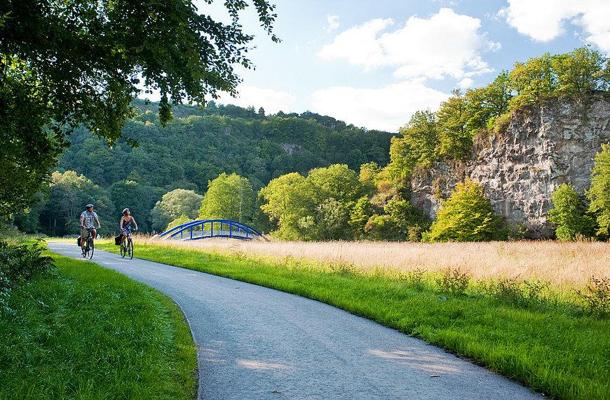 Radtour auf dem Nahe-Radweg bei Enzweiler, Nahe