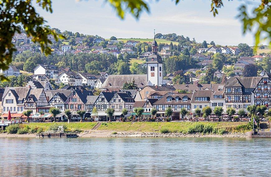 Rheinpromenade in Bad Breisig, Romantischer Rhein