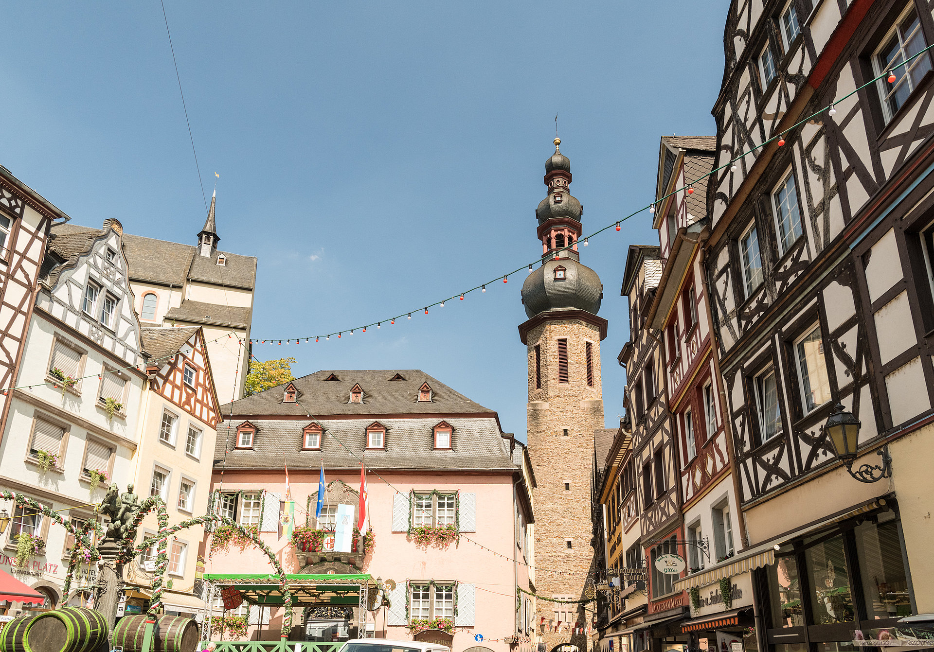 The market place in Cochem, Moselle