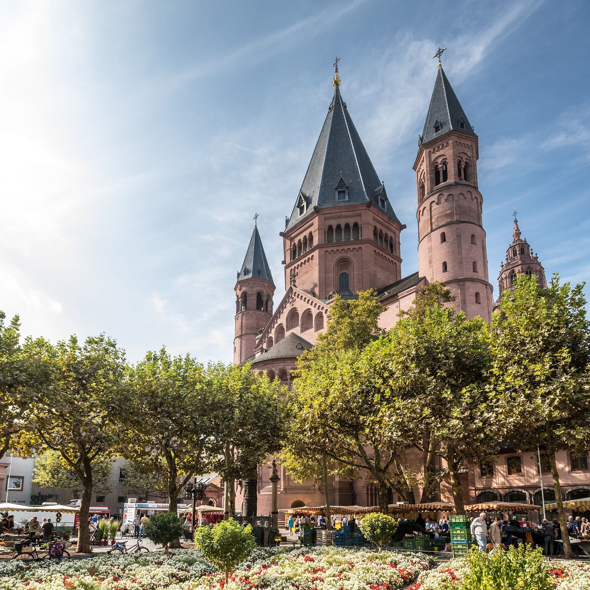 The St Martin's Cathedral in Mainz, Rhine-Hesse