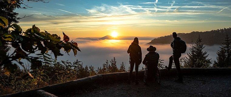 Barrierefreie Aussichtsplattform auf dem Eyberg bei Dahn, Pfalz