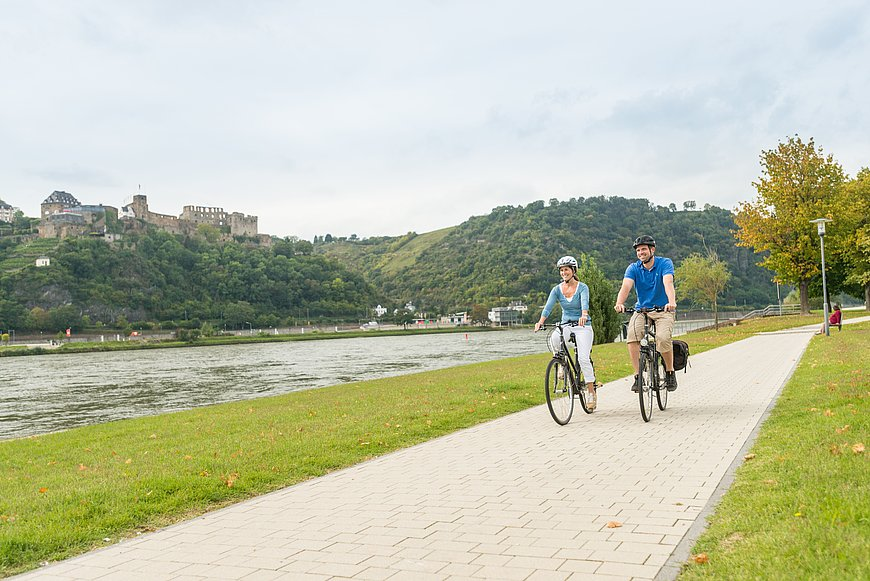 The Rhine Cycle Trail near St. Goarshausen, Romantic Rhine