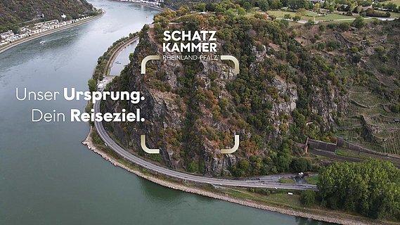 Der Rhein im Mittelrheintal aus der Vogelperspektive