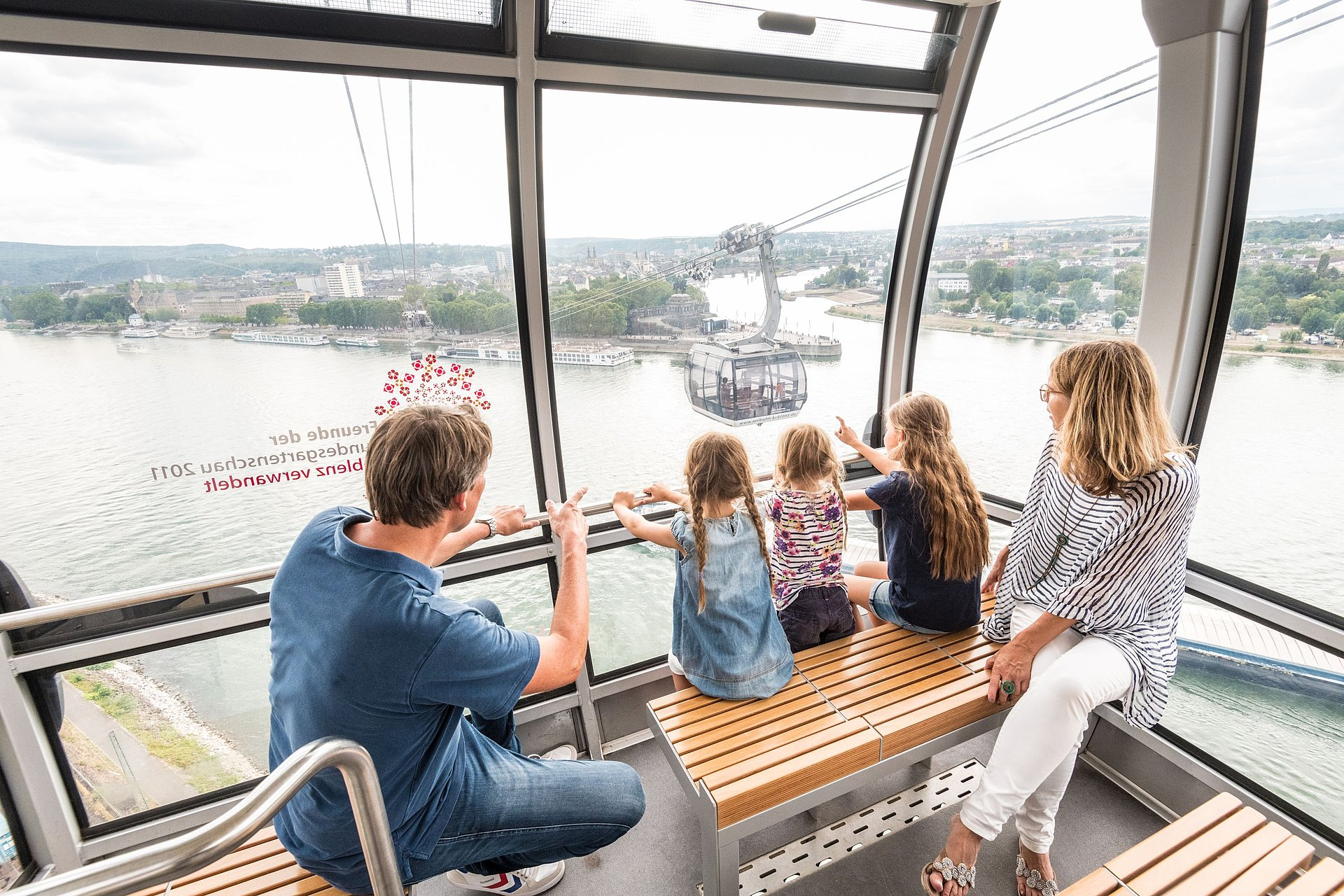 The cable car in Koblenz, Romantic Rhine