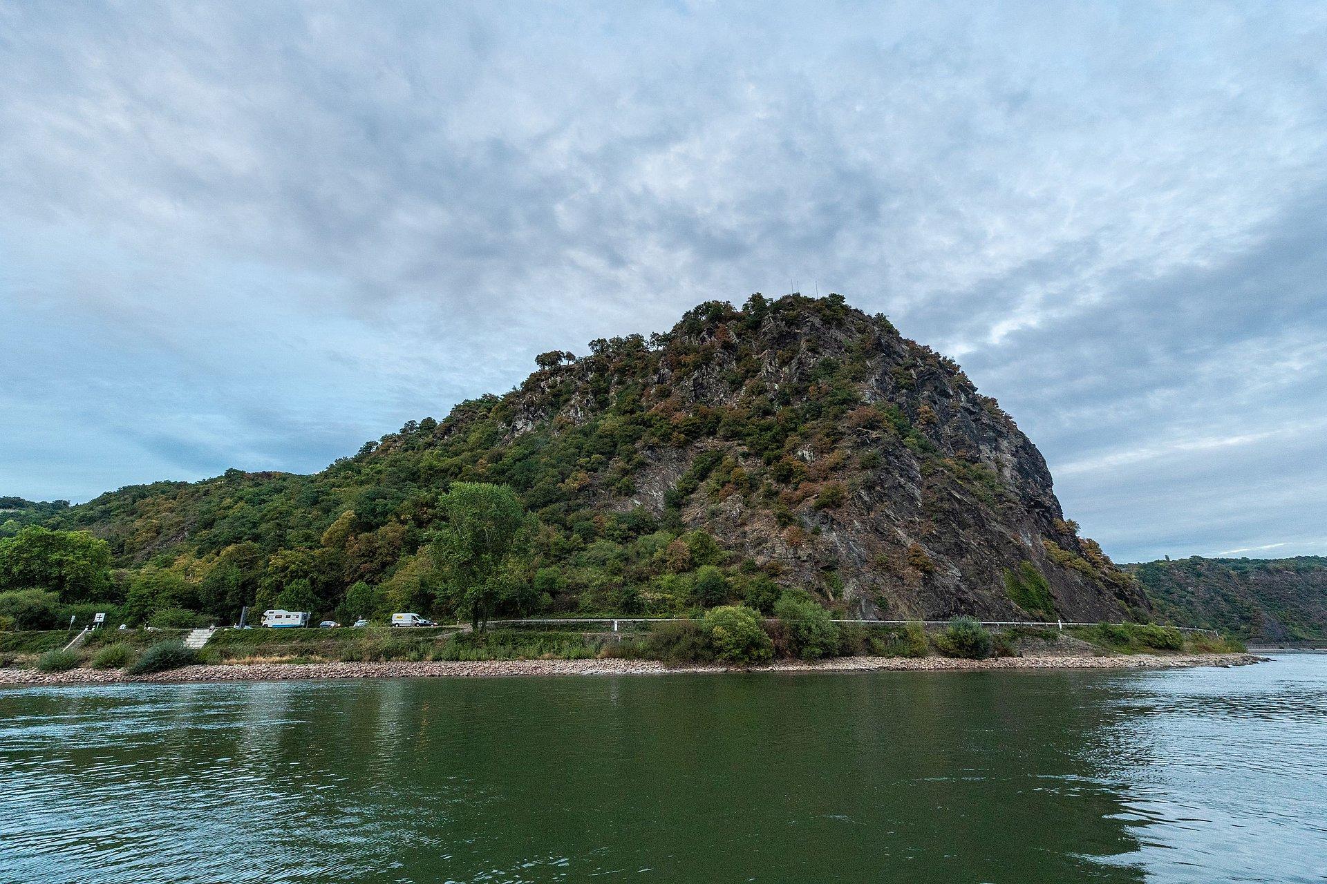 Lorelei Rock at St. Goarshausen, Romantic Rhine