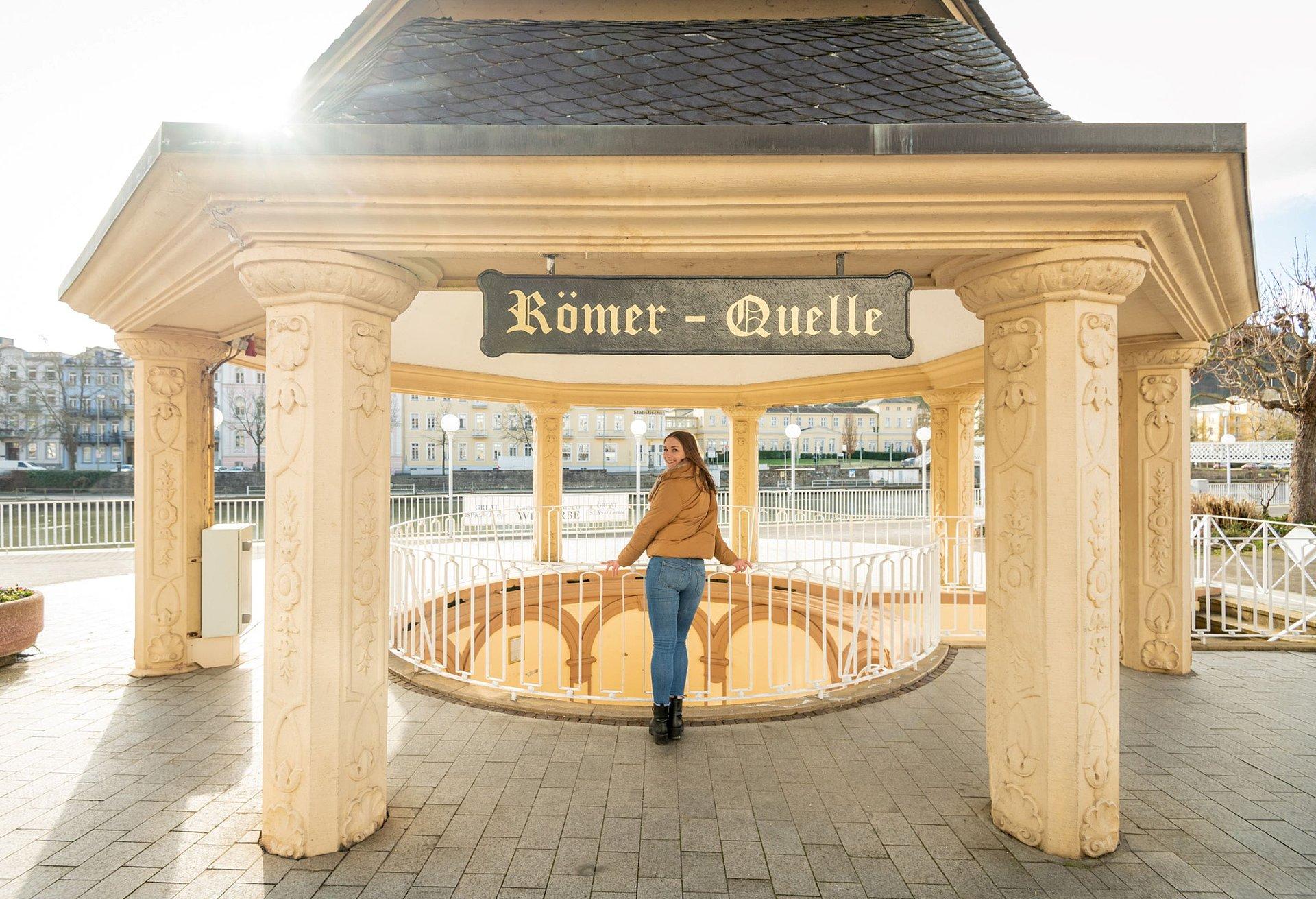 De Römerquelle in het historische kuurgebied in Bad Ems, Lahndal