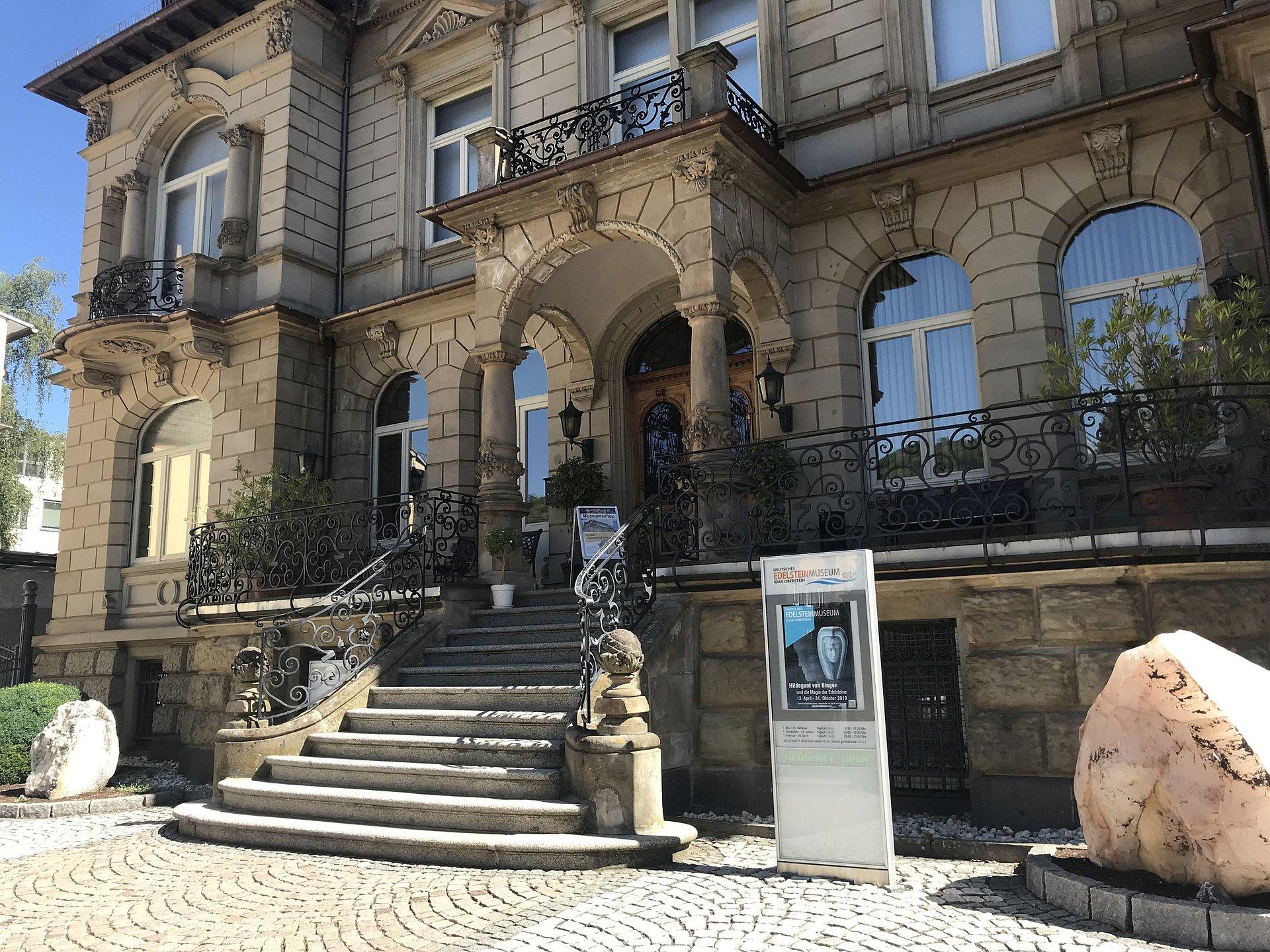 Het Duitse edelsteenmuseum in Idar-Oberstein, Nahe-regio
